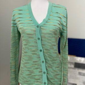 Missoni Mint Green Cardigan Sweater